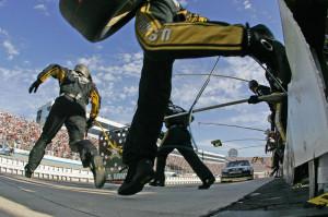 Nascar race at Dover run Monday