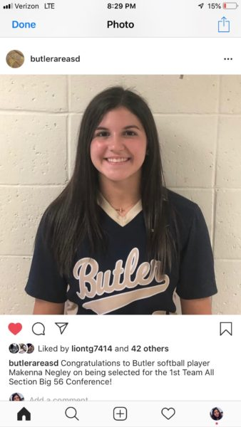 Four Butler County Players named to First Team in Softball